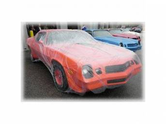 CAR COVER, Clear Plastic w/ elastic band, Universal