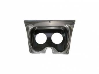 HOUSING, Instrument Carrier, custom gauge panel w/ carbon fiber face, mounts in stock location, features two gauge openings - mounts two 3 3/8 inch gauges (common size for speedometer and tachometer), gauges not incl, molded UV resistant ABS-plastic, Clas