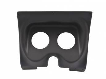 HOUSING, Instrument Carrier, custom gauge panel w/ matte black face, mounts in stock location, features two gauge openings - mounts two 3 3/8 inch gauges (common size for speedometer and tachometer), gauges not incl, molded UV resistant ABS-plastic, Class