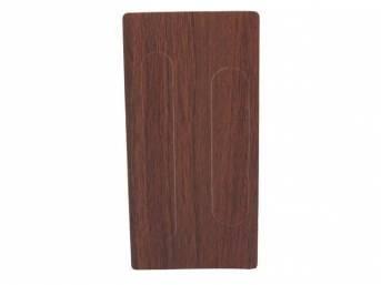 APPLIQUE / INSERT, Console Shifter Plate, vinyl wood