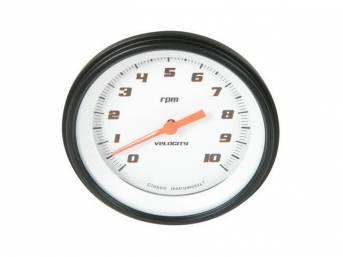 Gauge Tachometer Classic Instruments Velocity White Series Gauge