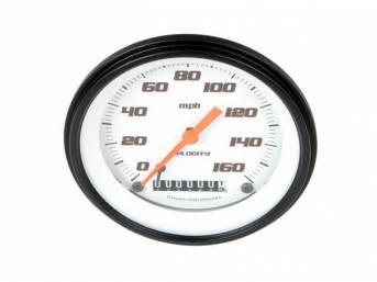 Gauge Speedometer Velocity White Series Gauge Has Orange