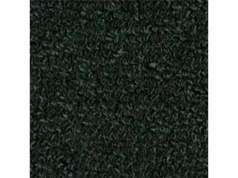 CARPET, Molded, Raylon (Loop Style), 2-piece, Dark Green,