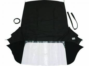 CONVERTIBLE TOP KIT, Black, W/ Sewn-In Plastic Window, 32 Ounce, 5 Year Limited Warranty