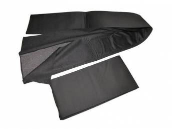 PAD SET, Convertible Top, black, Repro