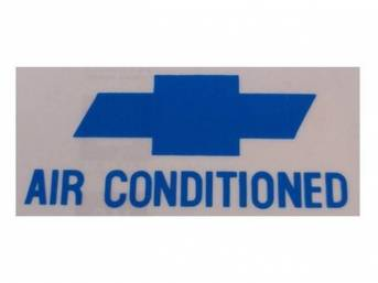 DECAL, Window, A/C, *Air Conditioned* W/ *Bowtie* in