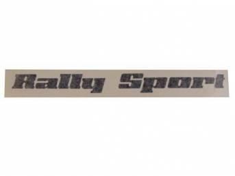 DECAL, Body, *Rally Sport*, Black, Repro