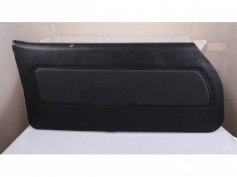 PANEL SET, Premium, Inside Door, Dlx, Black, Madrid Grain Vinyl W/ Knitted Insert, Pre-assembled, ** Must Re-Use original decorative trim and medallions **