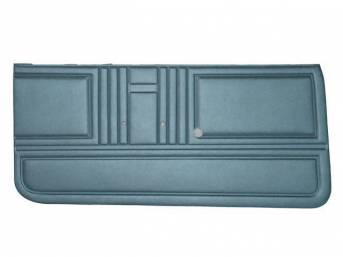 PANEL SET, Premium, Inside Door, Std, Light Blue, Madrid Grain Vinyl, Unassembled