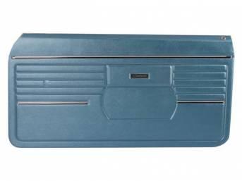 PANEL SET, Premium, Inside Door, Std, Blue, Madrid Grain Vinyl, Pre-assembled