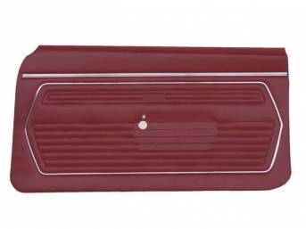 PANEL SET, Premium, Inside Door, Std, Red, Madrid Grain Vinyl, Pre-assembled