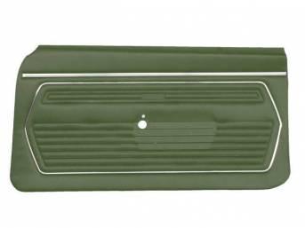 PANEL SET, Premium, Inside Door, Std, Light Green, Madrid Grain Vinyl, Pre-assembled