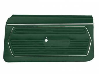 PANEL SET, Premium, Inside Door, Std, Dark Green, Madrid Grain Vinyl, Pre-assembled