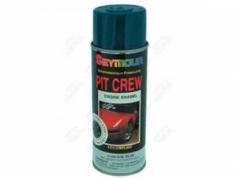 PAINT, Engine Enamel, GM Corporate Blue, Seymour, VOC compliant in California, no cfcs or methylene chloride, 12 fluid ounce spray can