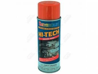 PAINT, Engine Enamel, GM Moly Orange, Seymour, VOC compliant in California, no cfcs or methylene chloride, 12 fluid ounce spray can
