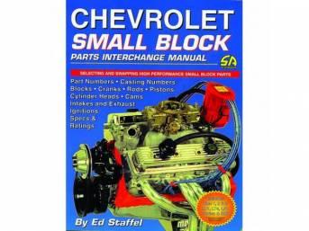 BOOK, CHEVROLET SMALL BLOCK PARTS INTERCHANGE MANUAL, SOFTBOUND