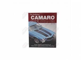 BOOK, Definitive Camaro Guide 1970 1/2 - 1981,