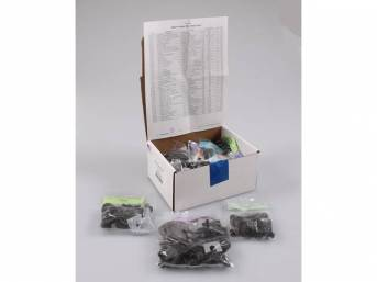 HARDWARE KIT, Master Body, correct fasteners to assemble vehicle sheetmetal in one kit at a discount over purchasing individual smaller kits, (449) incl OE style fasteners w/ correct color and markings