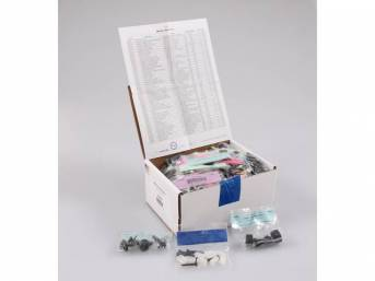 HARDWARE KIT, Master Body, correct fasteners to assemble vehicle sheetmetal in one kit at a discount over purchasing individual smaller kits, (531) incl OE style fasteners w/ correct color and markings