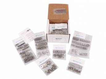 Stainless Master Body Hardware Kit, 450-pc, indented hex head bolts, Totally Stainless