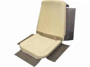 Molded Bucket Seat Foam, restoration quality reproduction