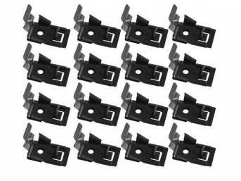 CLIP KIT, Convertible Top Boot, w/ retainers, (16), Repro