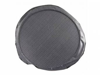 TIRE COVER, 14 Inch, Gray houndstooth, W/ hardboard,