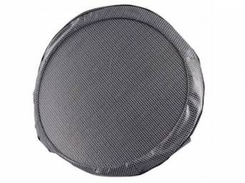 TIRE COVER, 15 Inch, Gray houndstooth, W/ hardboard,