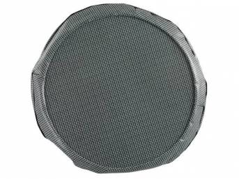 TIRE COVER, 14 Inch, Aqua and Black Houndstooth, W/ hardboard, repro