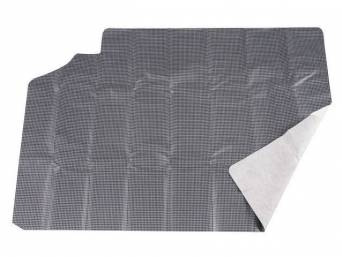 TRUNK MAT, Vinyl, Gray and Black Houndstooth, 1-piece, vinyl top w/ white fleece back, non-OE replacement style repro