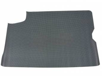 TRUNK MAT, Rubber, Aqua and Black Houndstooth, 1-piece repro