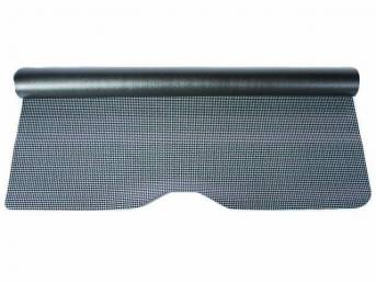 TRUNK MAT, Rubber, Gray and Black Houndstooth, 1-piece repro