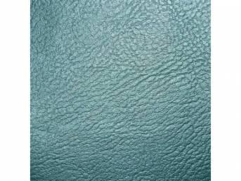 Madrid Grain Vinyl Yardage, Aqua / Light Aqua / Turquoise, 54 inch X 72 inch section, rolled