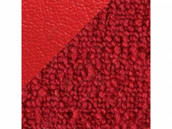 CARPET Raylon Weave red w/ 2 red inserts