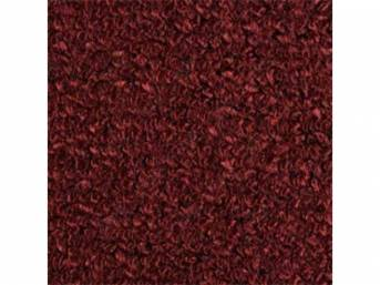 CARPET, Raylon Weave, maroon, mass backed This item