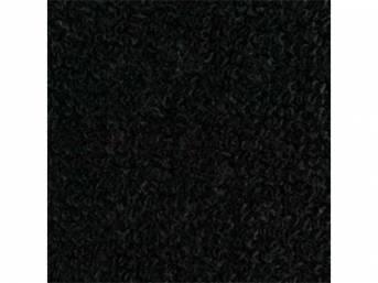 CARPET, RAYLON WEAVE, BLACK