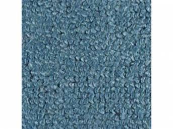 CARPET, Molded, Raylon (Loop Style), 2-piece, Medium Blue,