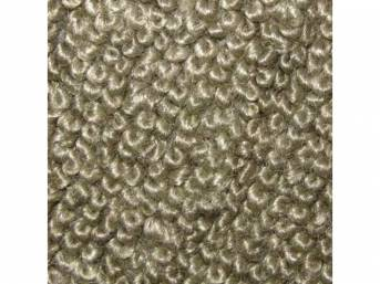 CARPET, Molded, Raylon (Loop Style), 2-piece, Fawn, A/T,