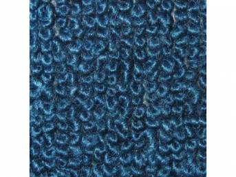 CARPET, Molded, Raylon (Loop Style), 2-piece, Bright Blue,