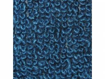 Carpet Raylon Loop Style Two Piece Bright Blue