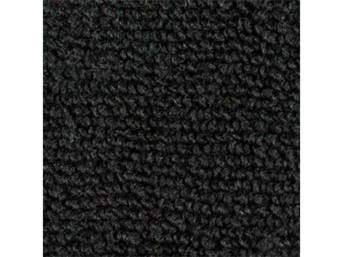 CARPET, Molded, Raylon (Loop Style), 2-piece, Black, M/T