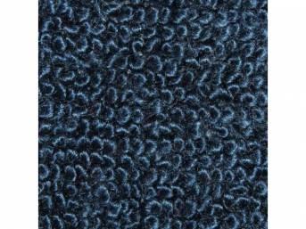 CARPET, Molded, Raylon (Loop Style), 2-piece, Blue (#