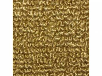CARPET, Molded, Raylon (Loop Style), 2-piece, Gold, A/T,