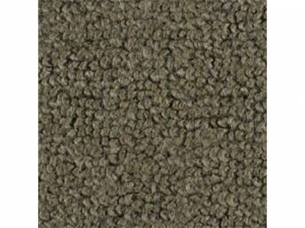 CARPET, Molded, Raylon (Loop Style), 2-piece, Ivy Gold,
