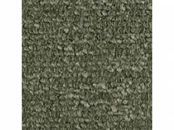 Carpet Raylon Loop Style Two Piece Medium Green