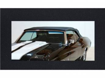 CONVERTIBLE TOP KIT, Black, w/ Solid Glass Window, 32 Ounce, 5 Year Limited Warranty