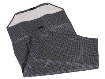 STORAGE BAG, Convertible Top Boot, Gray houndstooth, velcro