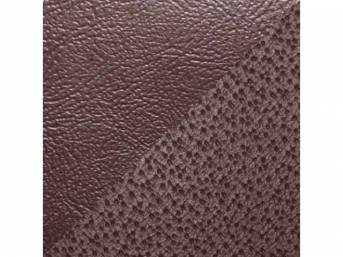 Upholstery Set, Rear Seat, Claret, sierra grain vinyl w/ derma grain vinyl inserts