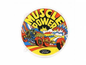 DECAL, Exterior, Muscle Power, classic Ford Racing parts