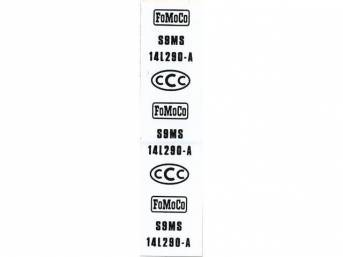 WIRE TAG, Fog Light Switch, repro, white, S9MS-14L290-A